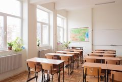 Free Empty Classroom Stock Photography - 52354232