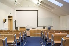 Empty classroom. Empty small classroom for students Royalty Free Stock Images