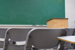 Empty Classroom royalty free stock photos