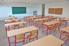 Empty classroom interior Royalty Free Stock Photos