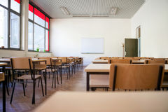 Empty classroom. Interior of empty classroom or lecture room Royalty Free Stock Photo