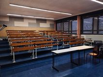 Empty classroom with light royalty free stock photo
