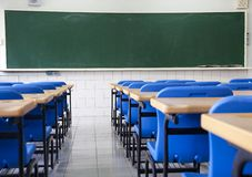 Empty  classroom of school Stock Images