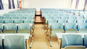 Empty classroom. Empty school classroom with chairs and desks Stock Image