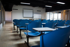 Empty classroom and whiteboard Stock Photos