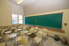 Empty Classrooms in college Royalty Free Stock Photo