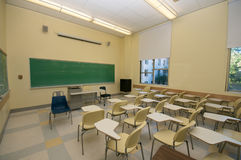 Empty Classrooms in college Stock Photography