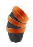 Empty clay garden pots Royalty Free Stock Image
