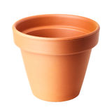 Empty clay plant pot Stock Photography