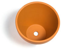 Empty clay plant pot Stock Image