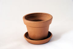Empty clay pot Royalty Free Stock Images
