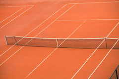 Empty clay tennis court Royalty Free Stock Photo