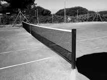 Empty Clay Tennis Court Stock Photography