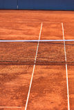 Empty Clay Tennis Court and Net Royalty Free Stock Photos