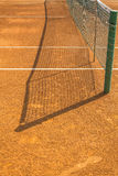 Empty clay tennis court. Empty red clay tennis court Royalty Free Stock Photos