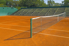 Empty clay tennis court Stock Images