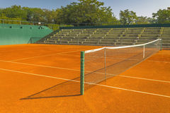Empty clay tennis court Royalty Free Stock Images