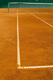 Empty clay tennis court Royalty Free Stock Image