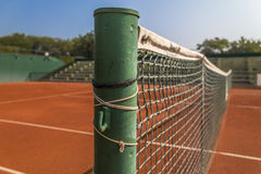 Empty clay tennis court. Empty red clay tennis court Stock Image