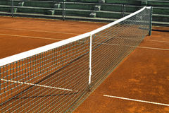 Empty clay tennis court Royalty Free Stock Photos