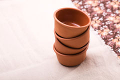 Empty clean bowls in stack Stock Image