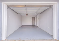 Empty clean garage in San Diego California Stock Photography