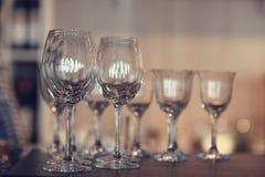 Empty clean glass Stock Photo