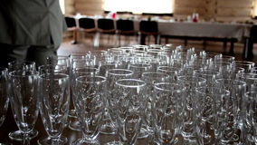 Empty and Clean Glasses Royalty Free Stock Photo