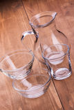 Empty clean glassware Royalty Free Stock Images