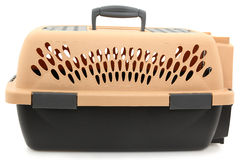 Empty Clean Pet Carrier Over White Royalty Free Stock Photo