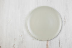 Empty clean plate on table Royalty Free Stock Photos