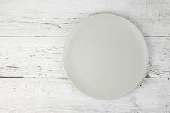 Empty clean plate on table Stock Images