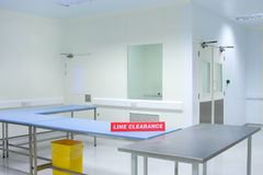 Empty clean room. Thermoform product plant empty clean room interior Royalty Free Stock Image