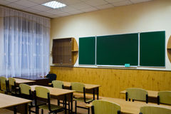 Empty clean school room Royalty Free Stock Images