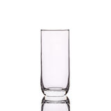 Empty clear drinking glass. Studio shot isolated on white. Background Royalty Free Stock Images