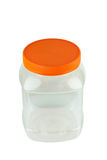 Empty clear storage plastic container isolated Royalty Free Stock Images