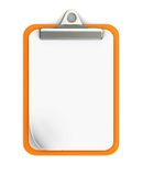 Empty clipboard. Isolated on white background Stock Photography