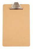 Empty clipboard. On white royalty free stock photo