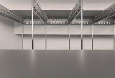 Empty Cloakroom Stock Photos