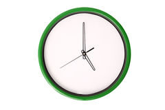 Empty clock serie - 5 o'clock. Stock Photography