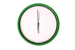 Empty clock serie - 6 o'clock. Royalty Free Stock Image
