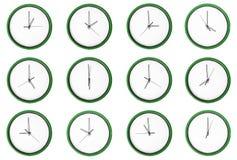 Empty 12 clocks - No digits. Stock Photography