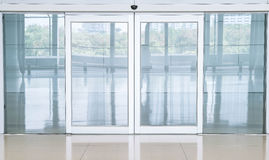 Empty closed door Royalty Free Stock Image