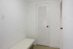 Empty closet space. Stock image of an empty closet space stock images