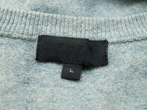 Empty clothing label Stock Photography