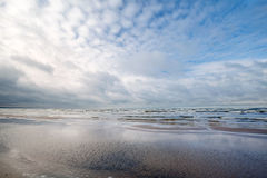 Empty Coast of Baltic Sea Stock Photography