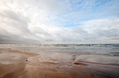 Empty Coast of Baltic Sea Royalty Free Stock Photo