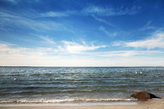 Empty coast of Baltic Sea, Tallinn, Estonia Stock Photography