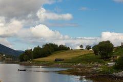 Empty coast of fjord Stock Photography