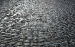 Empty cobblestone background Stock Photo